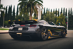 Carbon Fiber and Gold (Noah L. Photography) Tags: koenigsegg agera rs phoenix black carbon fiber gold car sportscar supercar hypercar sweden swedish hingwalee carsandchronos walnut nikon55mmf12ai
