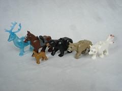 70671 - animals comparing (fdsm0376) Tags: lego set review 70671 ninjago lloyd journey blizzard warrior wolf kitsune
