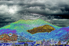 A Sunday Slider (fishmonger45) Tags: hss abstract mountains clouds photoshop