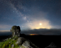 Moorland night (R.Price) Tags: altair astro astrophotography copyrightrichardprice dartmoor jupiter lowlight milkyway mist moor night saturn sky tor wildcamp wwwfreedomphotographiccom