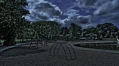 Sleepaway Camp (farmspeedracer) Tags: night lake horror darkness angela back sky cloud terror running forest playground