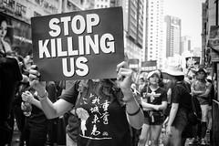 (von Calven Lee) Tags: blackandwhite hongkong leica leicam10p protest elmarit 28mm 11804