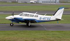 G-ATSZ (PrestwickAirportPhotography) Tags: egpk prestwick airport piper pa30 gatsz