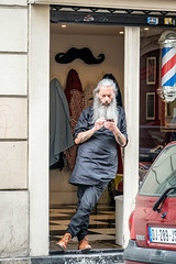 Paris - The Barber (Gilama Mill) Tags: paris france people french fashion flea antique barber hairdresser street