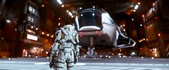 Six, you ready? (RevanParker) Tags: starcitizen spaceships hangar virtualphotography
