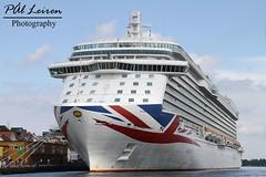 P&O Cruises - Britannia - Stavanger Harbour 2019.06.10 (Pål Leiren) Tags: cruise ships cruiseships stavangerharbour stavanger harbour norway 2019 cruiseship vessel ship po cruises britannia pocruises