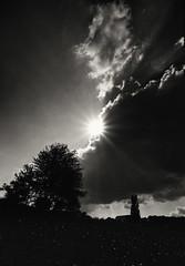 Sun and Black (frankdorgathen) Tags: noir dunkel dark landscape landschaft monochrome blackandwhite schwarzweiss schwarzweis ruhrpott ruhrgebiet fischlaken essen himmel sky wolken clouds backlight gegenlicht sonne sun