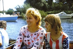 539_HilaryPaul1973 (wrightfamilyarchive) Tags: hilary paul wright summer 1973 1970s 70s seventies boat water holiday uk england