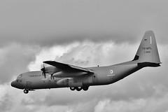 TS-MTL /  Z21122. Lockheed Martin C-130J-30 Hercules at a very grey Brize Norton . (Bob Symes) Tags: c130 c130j tsmtl monochrome turboprop hercules bzz z21122 tunisianairforce brizenorton c130j30 grey 3825758 aircraft transportaircraft military lockheed 21squadron