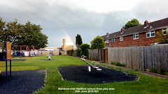 Rainbow over Hartford school from play area 15th June 2019 001 (D@viD_2.011) Tags: rainbow over hartford school from play area 15th june 2019