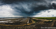 Crammond Storm (CarnivoreDaddy) Tags: storm stormy crammond island crammondisland coast shore edinburgh lothian scotland clouds cloudy sky panorama hdr merge landscape wideangle ultrawideangle widelens handheld dslr nikon d7000 sigma sigma1020mm rawimageformat multipleexposure adobe lightroom dark darksky