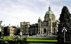 1897 Parliament Buildings (Victoria BC) (hardhatMAK) Tags: parliamentbuildings victoriabritishcolumbia canada 1897 romanesquerevival scannedslide kodachrome64