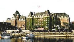 1908 Empress Hotel (Victoria BC) (hardhatMAK) Tags: empresshotel victoriabritishcolumbia canada 1908 châteauesque architectfrancisrattenbury canadianpacificrailway scannedslide kodachrome64