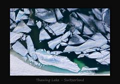 Thawing Lake (MC--80) Tags: thawing lake switzerland drone