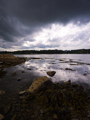 Storm Clouds over Strangford (Feldore) Tags: northernireland strangford game thrones tower storm clouds moody ominous feldore mchugh em1 olympus reflection lough audleys castle