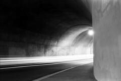 roll125 frame19 (Immane) Tags: pentaxspotmaticii supertakumar 55mmf18 135 35mm film analog aristaeduultra100 fomapan d76 11 blackandwhite monochrome bw roll125 losangeles downtown urban night longexposure bulb bunkerhill civiccenter tunnel