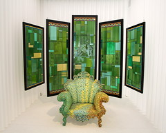 green (andrevanb) Tags: gent gand ghent 2018 design museum art furniture desk chair chaise stoel screen glass green