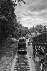 R0104027 copy- on1 (douglasjarvis995) Tags: railway haworth station yorkshire train steam mono monochrome bnw