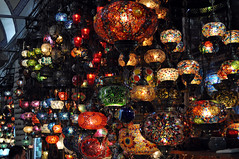 The Grand Bazaar, Istanbul, Turkey (Rus Eltman) Tags: bazaar grandbazaar istanbul constantinople turkey turkish lights lamps colourful glass market