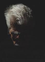 (archangelse) Tags: portrait silhouette light shadoww glasses grey dark sweden stockholm documentary reportage people man