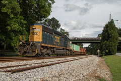 40-2 on the 710 (travisnewman100) Tags: csx local railroad freight intermodal c710 acworth georgia wa subdivision western atlantic atlanta division rr emd sd402 train