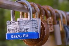 """Secure"" Padlock (Obert Madondo) Tags: love padlocks ottawa rideaucanal secure gh4 gh4photos panasoniclumixdmcgh4 streetphotography accesorizing corktownpedestrianbridge lovelocks padlock"