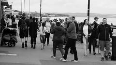 Sunday at Porty 014 (byronv2) Tags: portobello edinburgh sea northsea forth firthofforth riverforth rnbforth rnbfirthofforth beach edimbourg scotland river coast coastal street candid peoplewatching crowd group blackandwhite blackwhite bw monochrome