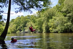 Xavier catches air (Mr. Russell) Tags: edistoriver southcarolina lowcountryunfiltered lcu kayak water river paddling