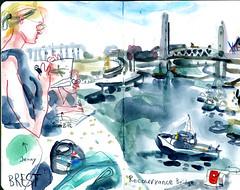 brest02 (marin71) Tags: art drawing sketch urbansketchers illustration trip