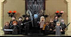 Custom LEGO Game of Thrones Minifigures (LegoMatic9) Tags: custom lego game thrones red keep iron throne room minifigures