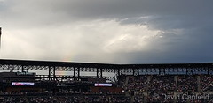 June 15, 2019 - A rainbow behind Coors Field. (David Canfield)