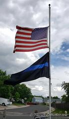 June 15, 2019 - Flags at half mast for CSP Trooper William Moden. (ThorntonWeather.com)