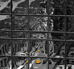 Taxi Service (pjpink) Tags: taxi cab yellow selectivecolor urban city manhattan nyc newyork newyorkcity ny february 2019 winter pjpink 2catswithcameras window reflection abstract abstraction