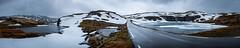 DSCF6841-Panorama (Romain Vincent) Tags: landcape norway snøvegen rainy panorama road cloudy snow routedesneiges aurland laerdal spring waterfall morning roadtrip 2019 june fuji 1024mm xt2 aurlandsfjellet
