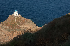 Church of the Seven Martyrs (josullivan.59) Tags: 2019 agean europe greece greek june kastro sifnos architecture blue church cyclades evening historical island islands landscape lightanddark old sea telephoto travel wallpaper water weather white 3exp day detail greekislands clear