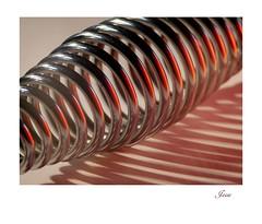 (jesse1dog) Tags: macromondays curves tabletop spring stanleycooker handle shadow reflection gm1 jupiter11 vintageprime extensiontubes redpaperreflector bokah hair dirt