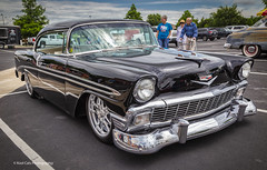 Black Beauty 1956 Chevy (Kool Cats Photography over 12 Million Views) Tags: 1956 canon6d canon24105mmf4lislens canon car carshow carshows chevy classiccar clouds customcar event headlights oklahoma outdoor outdoors photographicart photography streetart streetphotography vehicle black