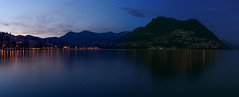 Lugano at nifght (2500teu) Tags: blauestunde bluehour lake see reflection spiegelung lugano paradiso schweiz