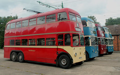 Trolleybus: Huddersfield Corporation Transport: 619 KVH219 BUT 964T/East Lancs (emdjt42) Tags: