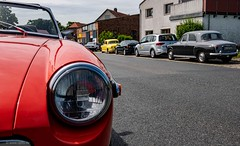 Meet a P4 (carsten.plagge) Tags: 2019 cp55 carstenplagge chrom himmel mg mgb poverp4 red rot rover