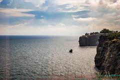 They've got to fall (Melissa Maples) Tags: antalya turkey türkiye asia 土耳其 apple iphone iphonex cameraphone summer mediterranean sea water darkness glitch grey blue clouds sky cliffs