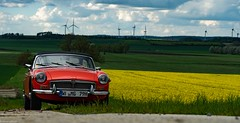MG über Land (carsten.plagge) Tags: 2019 a6300 cp55 carstenplagge farben himmel mg mgb sony wolken