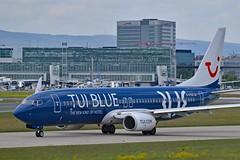 "TUIfly GmbH D-ATUD Boeing 737-8K5 Split Scimitar Winglets cn/34685-1901 ""TUI BLUE"" special colours @ EDDF / FRA 01-05-2018 (Nabil Molinari Photography) Tags: tuifly gmbh datud boeing 7378k5 split scimitar winglets cn346851901 tuiblue special colours eddf fra 01052018"