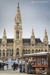 Austria City Hall (Rathaus) (Michiyo Photo) Tags: cathedral hall city cityhall rathaus europe european travel winter vienna sightseeing viewpoint clock canon 5dmarkiii austria booth candy children child heart photography