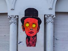 Mann mit Zylinder (wpt1967) Tags: augen canon6d eos6d france frankreich graf kopf paris zylinder art eyes face graffiti head wpt1967