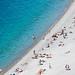 Playa mediterránea. Niza, Francia.