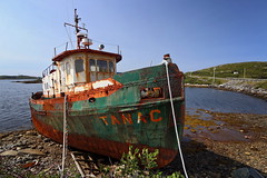 tugboat Tanac (freakingrabbit) Tags: tugboat tanac ship wreck aground newfoundland water rust port aux basques canada blue old derelict