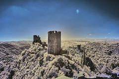 Cathar castles, Lastours (markbangert) Tags: lastours cathar carcassonne france ruin fuji xt1 infrared infrarot 700nm