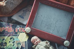 'Hello Friend'.... (Taken By Me Photography) Tags: abandoned adventure building jim ill fix it jimillfixit toy doll closed creepy chair derelict decay dark d610 demolished explore exploring empty eerie forgotten gone house left lost nikon neglect news north old play playing ruin shut takenbyme takenbymephotography urbex urban ue uk wwwtakenbymephotographycouk