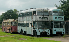 Trolleybus: Bradford City Transport: 847 JWW377 Sunbeam S4/East Lancs Sandtoft Trolleybus Museum (emdjt42) Tags: jww377